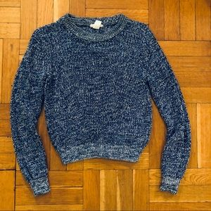 Blue marled crewneck sweater